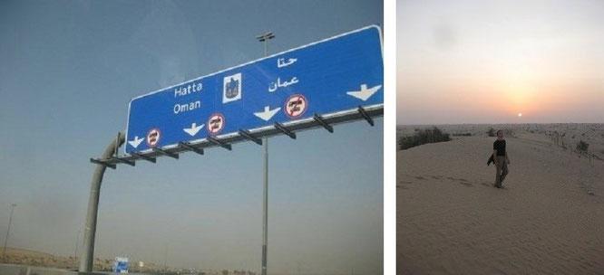 Grenzübertritt Dubai - Oman (Al Barsha, Dubai - Khasab / Al-Chasab, Oman (26° 11′ 0″ N, 56° 15′ 0″ E)...