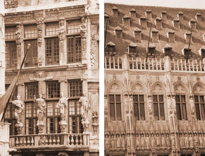 Zwischen 1401 - 1421 im gotischen Stil erbaut: Brabanter Gotik in Reinkultur, auch das oben erwähnte Rathaus in Löwen (Leuven/Louvain) wurde diesem Original nachempfunden...