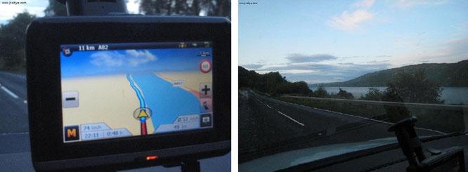 Vorsichtige Pirschfahrt entlang des Ufers von Loch Ness: kleinere Aussetzer von Mechanik und Technologie? Diesmal Fehlanzeige!