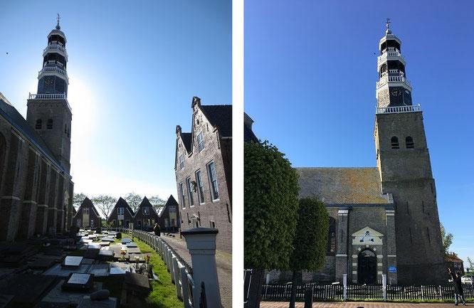 """Der schiefe Westturm der """"Grote Kerk van Hindeloopen""""..."""