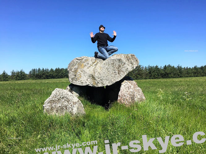 """Here I meditate at Tornby Dyssen* (3.500 BC, 57° 32′ 10.01″ N, 9° 56′ 29.81″ E), 40 km south of #Skagen #Denmark."""