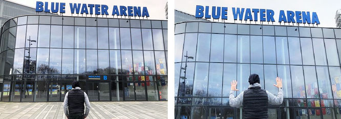 """In addition to 800 libraries and much more museums, I visited the biggest & smallest stadiums (>1,000) in 161 countries: #Africa #Asia #Australia #Europe #NorthAmerica #SouthAmerica. Blue Water Arena, Esbjerg, Denmark."""