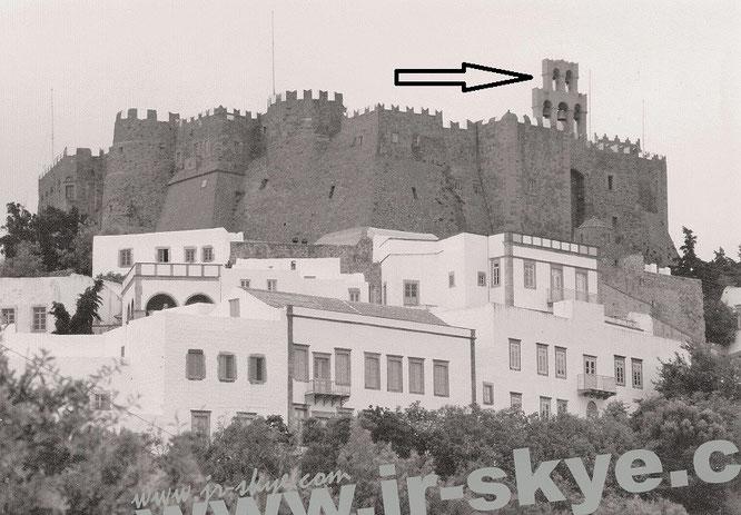 Mein Standort äußerlich betrachtet: Johanneskloster, Patmos!