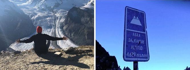 """From Peru & Chile to Bolivia: Salkantay, Cordillera Vilcabamba, Peru (r.) - 13° 20′ 2.44″ S, 72° 32′ 38″ W"