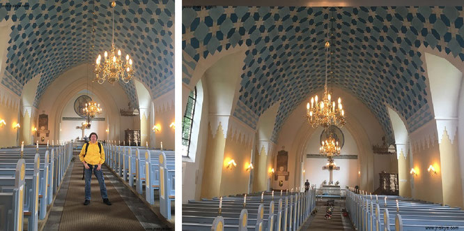 Die Kirche von Hobro (Adelgade 52B, 9500 Hobro) - das Kachelwerk im Innern!