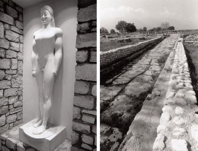 Dion, am Fuße des Olymp, 15 km südlich von Katerini. Von hier startete Alexander der Große seinen Asienfeldzug. Meine Verweildauer im - und um - den angegliederten, sehenswerten archäologischen Park: 2 Tage...