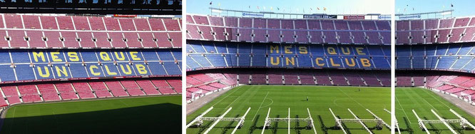 Camp Nou/Nou Camp, Barcelona, Catalonia, Spain (41° 22′ 51″ N, 2° 7′ 21″ E)...