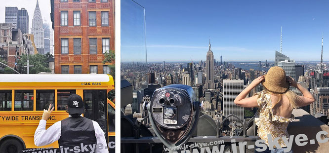 """""""The most beautiful skyscraper in the world: Chrysler Building, 405 Lexington Ave, New York City (l.)  & overlooking the Empire State Building #NYC (with Mona-Liza, r.)"""