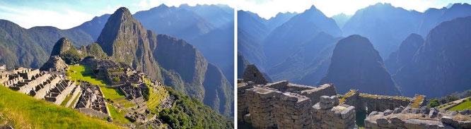 Machu Picchu/Huayna Picchu, 75 Kilometer nordwestlich von Cusco, Peru - 13° 9′ 48″ S, 72° 32′ 44″ W