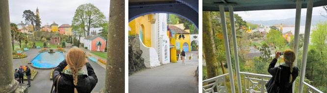 Portmeirion präsentiert sich als traumhaftes, künstlich angelegtes Dorf im mediterran-italienischen Stil. Erinnerungen an Tenby werden wach. Das Areal war auch Kulisse zahlreicher Fernsehproduktionen...