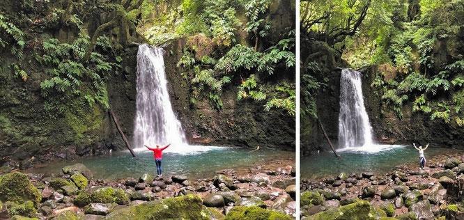 @BelindaTe @Nele_V ...in the middle of the Atlantic-O: with Mona-Liza at Trilha Salto do Prego, Faial Da Terra, São Miguel, Azores/Portugal - 37° 46′ 17″ N, 25° 27′ 43″ W