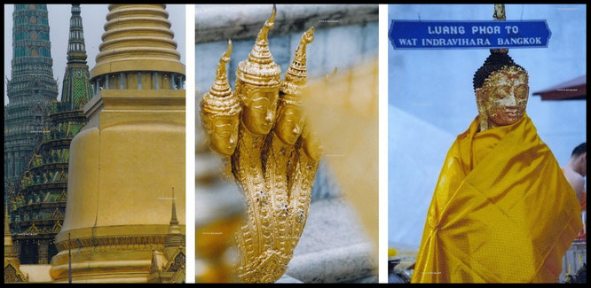 """Took these 3 pics in the city of angels itself (Kings Palace/Wat Indra). 2 spectacular spots, only 5.580 miles from frankfurt/germany""…"