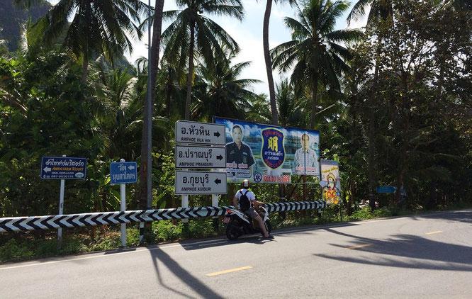 Zwischen Sam Roi Yot und Pranburi: Ein Paradies - nicht nur - für Motorrad- und Rollerfahrer...