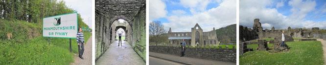 Tintern Abbey in Monmouthshire - MMS ist die südöstlichste Grenz- (zu England) und zugleich eine der dreizehn traditionellen walisischen Grafschaften...