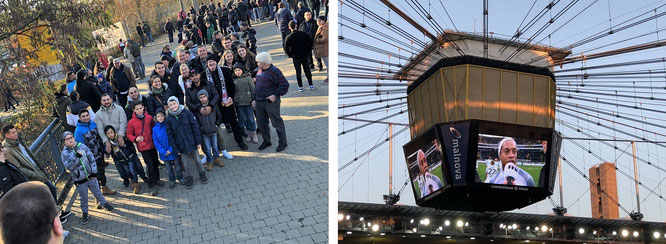 Besuch der größten und kleinsten Fussballstadien (bisher über 1.000 Exemplare) in 161 Ländern sowie inspizieren der Trickkisten der größten Statisten: Ronaldinho in Frankfurt (Commerzbank Arena, Stadion des Bundesligisten Einracht Frankfurt)...