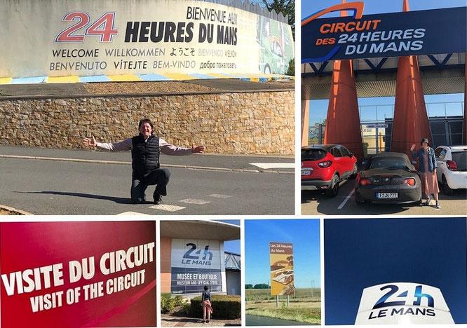 """""""24 Hours of Le Mans - Welcome to the Legend (47° 56′ 30″ N, 0° 13′ 30″ E).""""  Département Sarthe, Region Pays de la Loire..."""