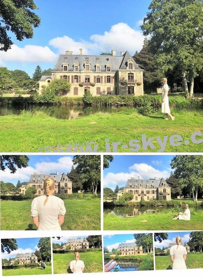 Château de Tronjoly, Gourin, Département Morbihan, Frankreich (48° 8′ 22″ N, 3° 36′ 27″ W)...