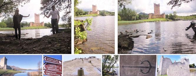 Ross Castle, Killarney - am Tag der Ankunft (oben) und Abreise (unten)...