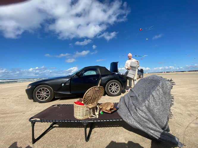 ...am breitesten Sandstrand Europas: Lakolk, Rømø