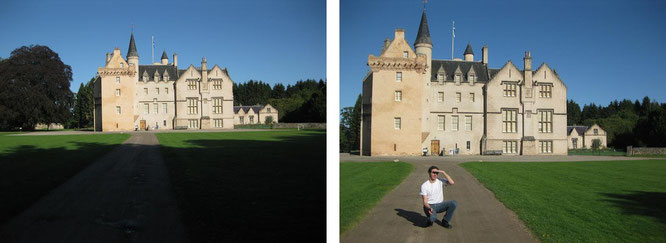 Untergang einer Dynastie: 820 Jahre private Nutzung fanden 1980 ein Ende - Familie Brodie übergab dieses Gemäuer 1980 dem National Trust for Scotland. Brodie Castle, Council Area Highland (57° 35′ 54″ N, 3° 42′ 32″ W)...