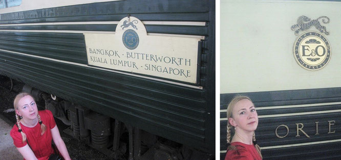 Eastern & Oriental Express, Bangkok - Butterworth - Kuala Lumpur - Singapur...