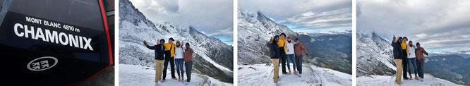 Im Schatten des Mont Blanc (Chamonix de Mont Blanc), zusammen mit Mona-Liza und Reiseblogger Ravi (und Varun) aus Indien...