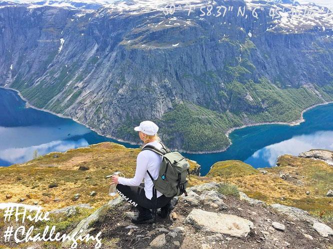 Trolltunga Norway Norwegen  JR Skye / J.R. Skye Norge / hike / climbing / climb / Reiseblog / Travelblog / Reise / Bergsteigen /