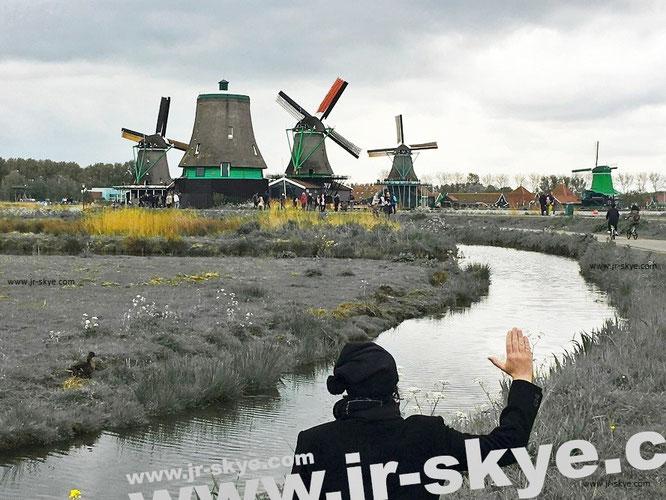 Zaanse Schans, Zaanstad, Province of Nordholland, Netherlands (52° 28′ 23,7″ N, 4° 49′ 0,2″ O)...