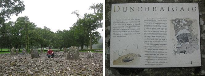 Temple Wood zieren zwei kleine Steinkisten außerhalb des südlichen Kreises. Innerhalb des Monuments wurde ein großes Exemplar errichtet: eine Rarität prähistorischer Steinkreis-Architektur...