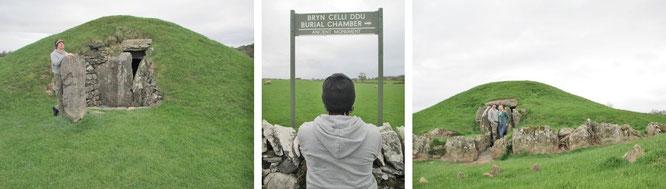 """Bryn Celli Ddu (""""Grabhügel im dunklen Wald"""", 53° 12′ 28.1″ N, 4° 14′ 5.24″ W), Anglesey"""