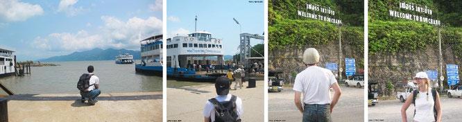 """""""Welcome to Koh Chang"""" - Koh Chang (TH), vor und nach der Fährüberfahrt..."""