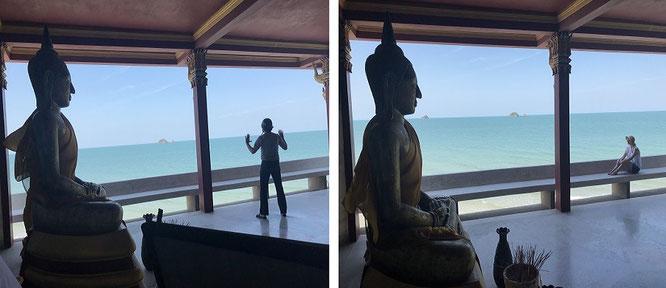 Buddha und Karibik? Irgendwo auf dem asiatischen Kontinent...