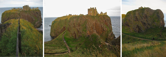 """...spectacular Dunnottar Castle in the evening sun."""