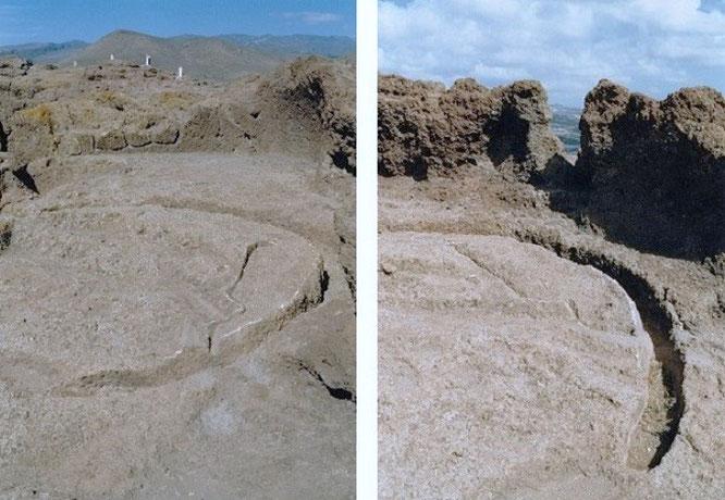Cuatro Puertas stellte ein Versammlungsort und Vorratsspeicher der Altkanarier dar, hier der sogenannte Opferplatz in Gehweite zum Hauptkomplex...