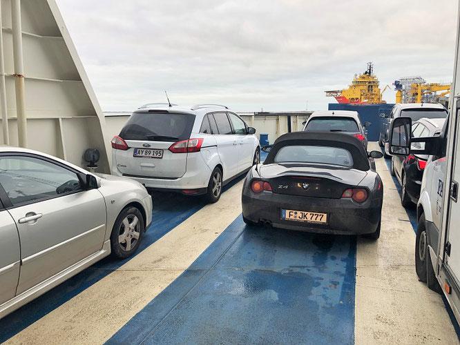 BMW Sportwagen Roadster Z4 E85 Fähre Esbjerg Autofähre Sportscar Fanø Fanö Ferry