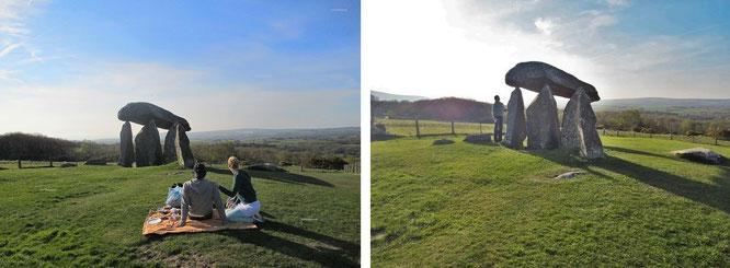 Pentre Ifan, Preseli Hills, Pembrokeshire, Wales/GB (3.500 BC, 51° 57′ N, 4° 46′ W)...