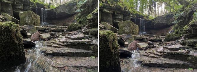 Trettstein Wasserfall, Ldkr. Bad Kissingen, Unterfranken, BY/GER. 13/06/21, 08:45 Uhr MESZ