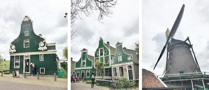 Typische Gebäude-Architektur in Zaanse Schans...