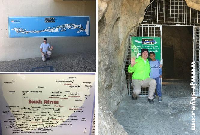 Cango Caves, Südafrika - hier mit Jeevan aus Bangalore, Indien...