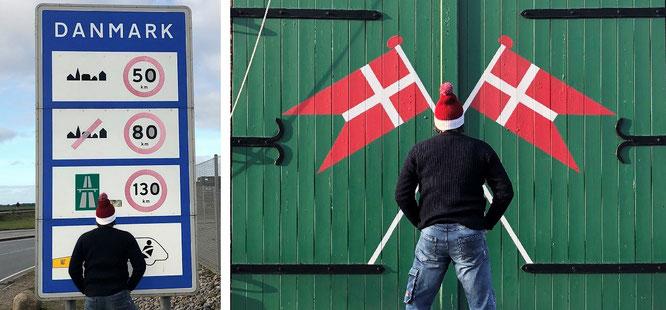 Das Einfallstor: von Sylt nach Römö (Havneby, links unten - nicht nur über Weihnachten) oder von Süderlügum nach Tönder. Von Stavanger oder Kristiansand (beide Norwegen) nach Hitrshals oder von Malmö (Schweden) nach Kopenhagen (oben)...