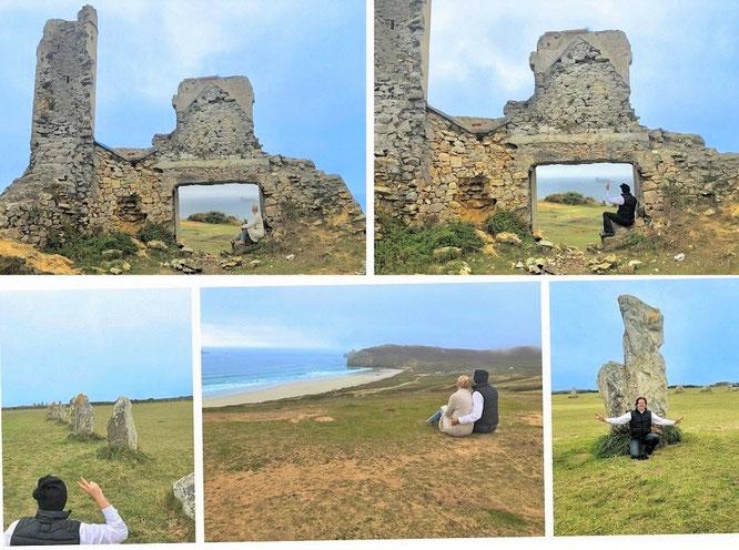 """""""Les ruines du manoir de Saint-Pol-Roux, Manoir du Coecilian, Plage de Pen hat, 29570 Camaret-sur-Mer, Département Finistère, Bretagne (48° 16′ 33″ N, 4° 35′ 48″ W)."""""""