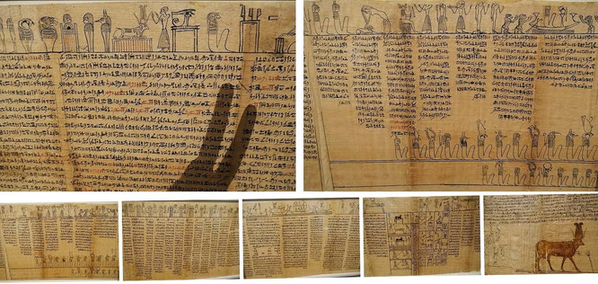 "Journey to Egypt: Book of the Dead, Chapter 17 (Ägytisches Totenbuch), Papyri, ""Justification & Identification with the Creator God"": >I am the great god who comes to be of himself<""."
