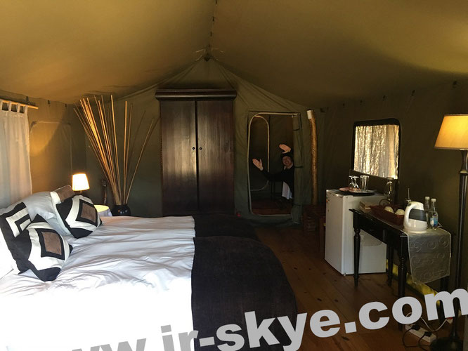 """In tents like these, British expeditionists and adventurers spent their nights in the #CONGO in the 19th century- before the Belgian colonial rule. However, much less luxurious as in great @Buffelsdrift #SouthAfrica - a Tribute to David Livingstone!"""