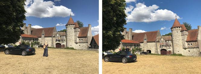 Französische Chateaus gehören zu meinen Lieblingsübernachtungsherbergen, wie hier - ein exemplarischer Nachbau aus dem 19. Jahrhundert - das Chateau d´Hattonchatel, 50 km südöstlich von Verdun...