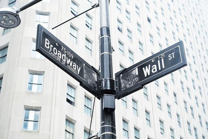 Broadway/Wall Street in winter!