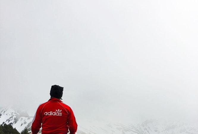 Grandioser An- und Ausblick. Ihr seht: Das Massiv des Naafkopfs, 2.571 über dem Meerespiegel, Liechtenstein!