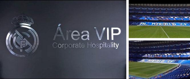 "Inside Santiago Bernabéu, Madrid (40° 27′ 10.99″ N, 3° 41′ 18.05″ W): ""Tour Bernabéu. Explore Real Madrid!"""