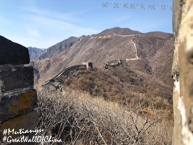 """The Great Wall of China - Mutianyu (40° 26′ 16.86″ N, 116° 33′ 42.84″ E), 70 km north of Beijing."""