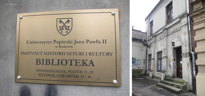 Auch das: Die unattraktivste Bibliothek, die mir je untergekommen ist - in einer der schönsten Städte Europas (Krakau). Restauration und Renovierung? Dringend angeraten!