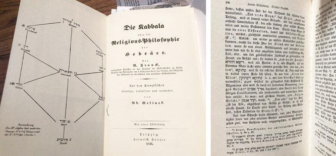 """""""Die Kabbala oder die Religionsphilosophie der Hebräer"""" -  Adolphe Franck, 1844"""